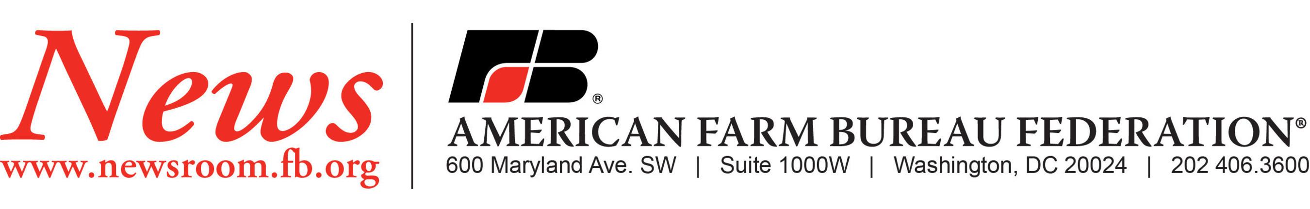 American Farm Bureau Federation News release letterhead