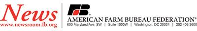 American Farm Bureau Federation News release letterhead (PRNewsFoto/)