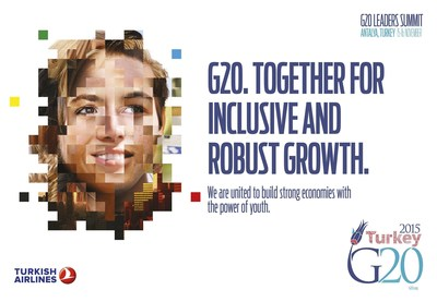 G20 Turkish Presidency succeeded to achieve consensus on a collective 15 % target to reduce the number of most vulnerable unemployed young people by the year 2025. This target is expected to be endorsed by G20 leaders during the Antalya Summit. (PRNewsFoto/G20 Turkish Presidency)
