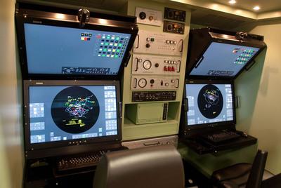 Modernized Patriot: New Patriot Modern Man Station has 30-inch color LCD displays with touch screens and soft keys. Photo: Raytheon. (PRNewsFoto/Raytheon Company)