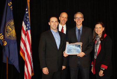 From left: J.R. Wheeler and Nicholas Williams, Wells Fargo; Lucas Alberg, Hydro Flask; and Sally Bruggeman, Wells Fargo.