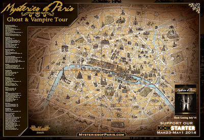Mysteries Of Paris Map.  (PRNewsFoto/Father Sebastiaan)