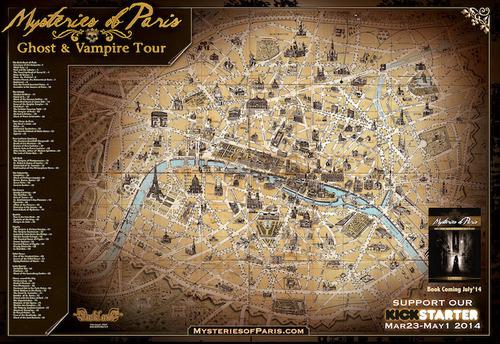 Mysteries Of Paris Map.  (PRNewsFoto/Father Sebastiaan)