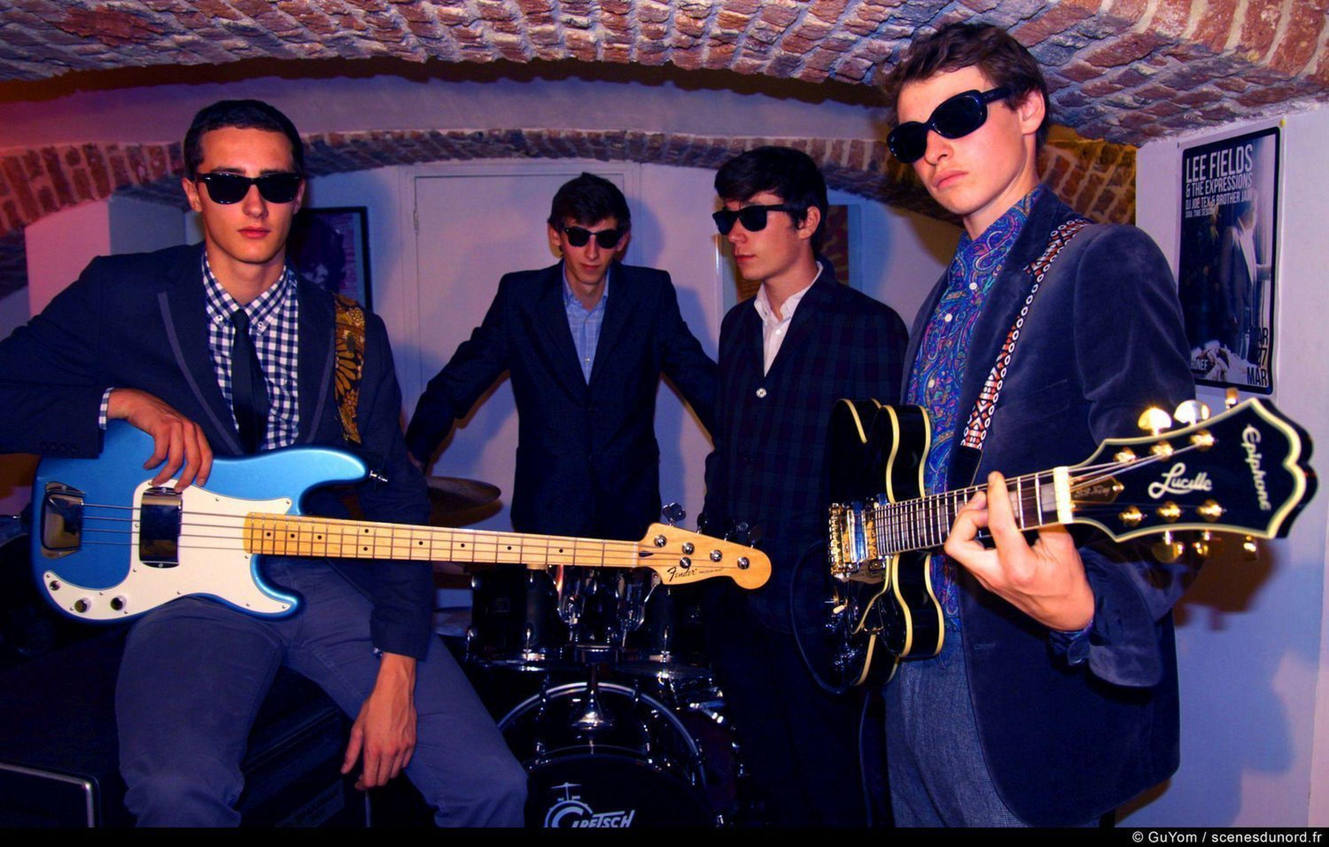 The Arrogants (L-R): Louis Szymanowski, Hugo El Hadeuf, Martin Tournemire, Thomas Babczynski (PRNewsFoto/Dirty Water Records)