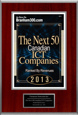 "Virtutone Networks Inc Selected For ""The Next 50 Canadian ICT Companies"".  (PRNewsFoto/Virtutone Networks Inc)"