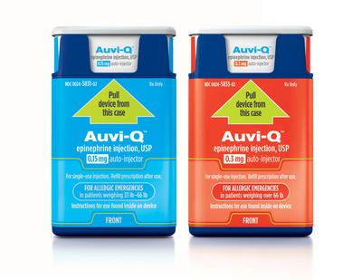 Auvi-Q(tm) (epinephrine injection, USP) is now available by prescription in U.S. pharmacies.  (PRNewsFoto/Sanofi)