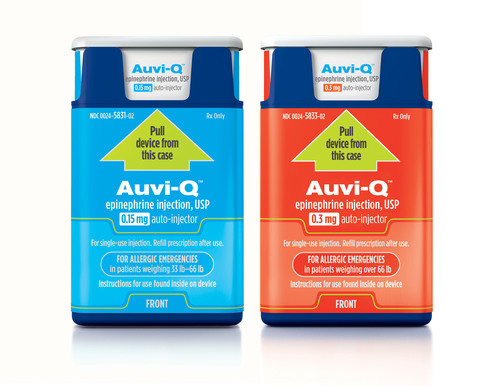Auvi-Q(tm) (epinephrine injection, USP) is now available by prescription in U.S. pharmacies. ...