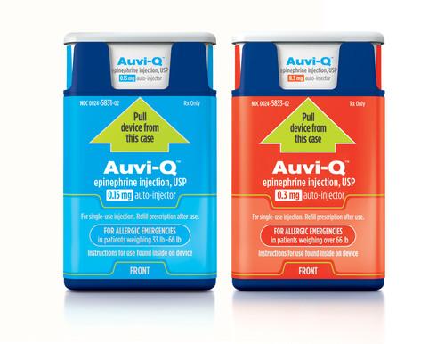 Auvi-Q(tm) (epinephrine injection, USP) is now available by prescription in U.S. pharmacies. (PRNewsFoto/Sanofi) (PRNewsFoto/SANOFI)
