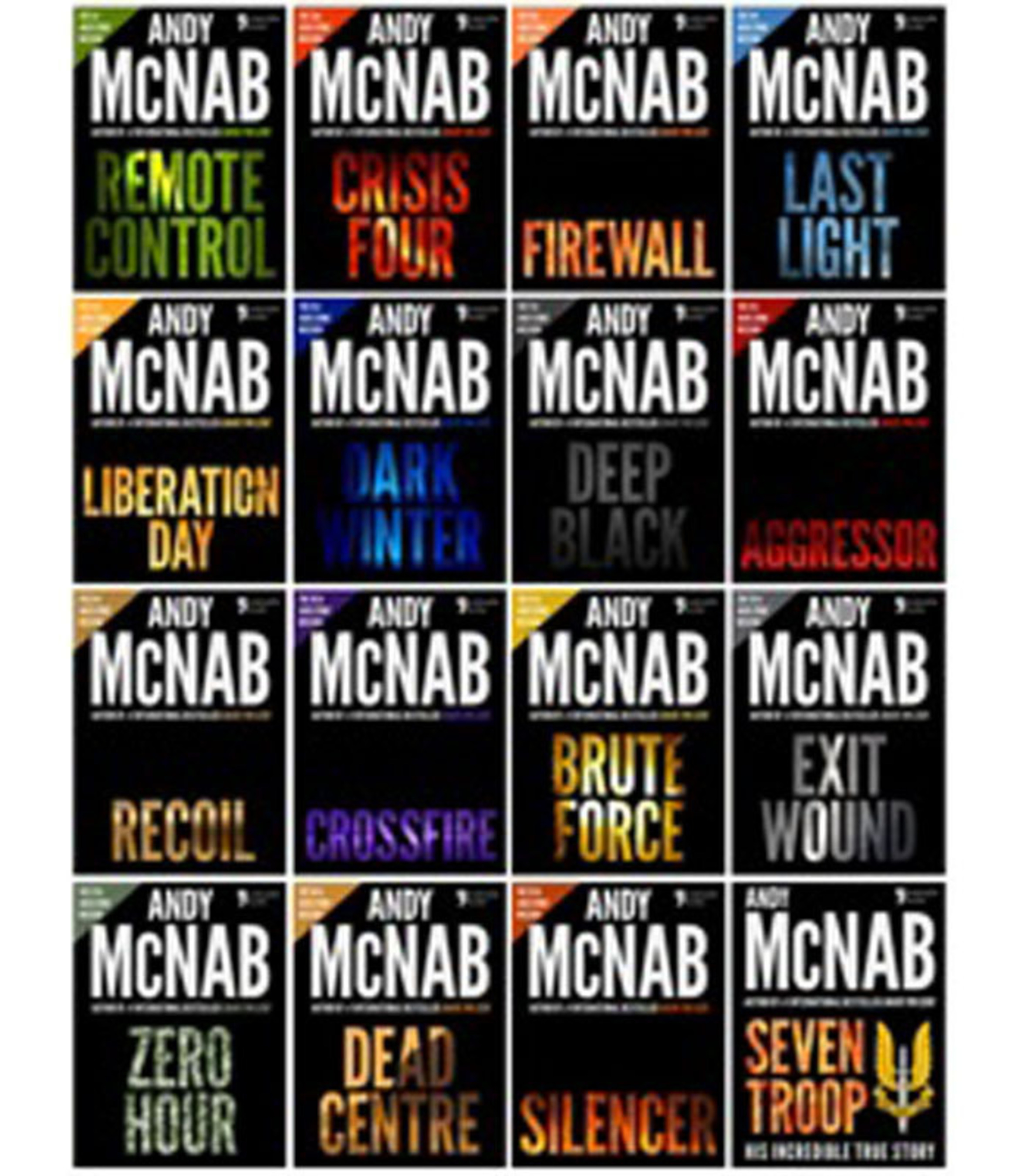 Andy McNab book covers.  (PRNewsFoto/Apostrophe Books)