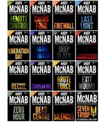 Andy McNab book covers. (PRNewsFoto/Apostrophe Books) (PRNewsFoto/APOSTROPHE BOOKS)