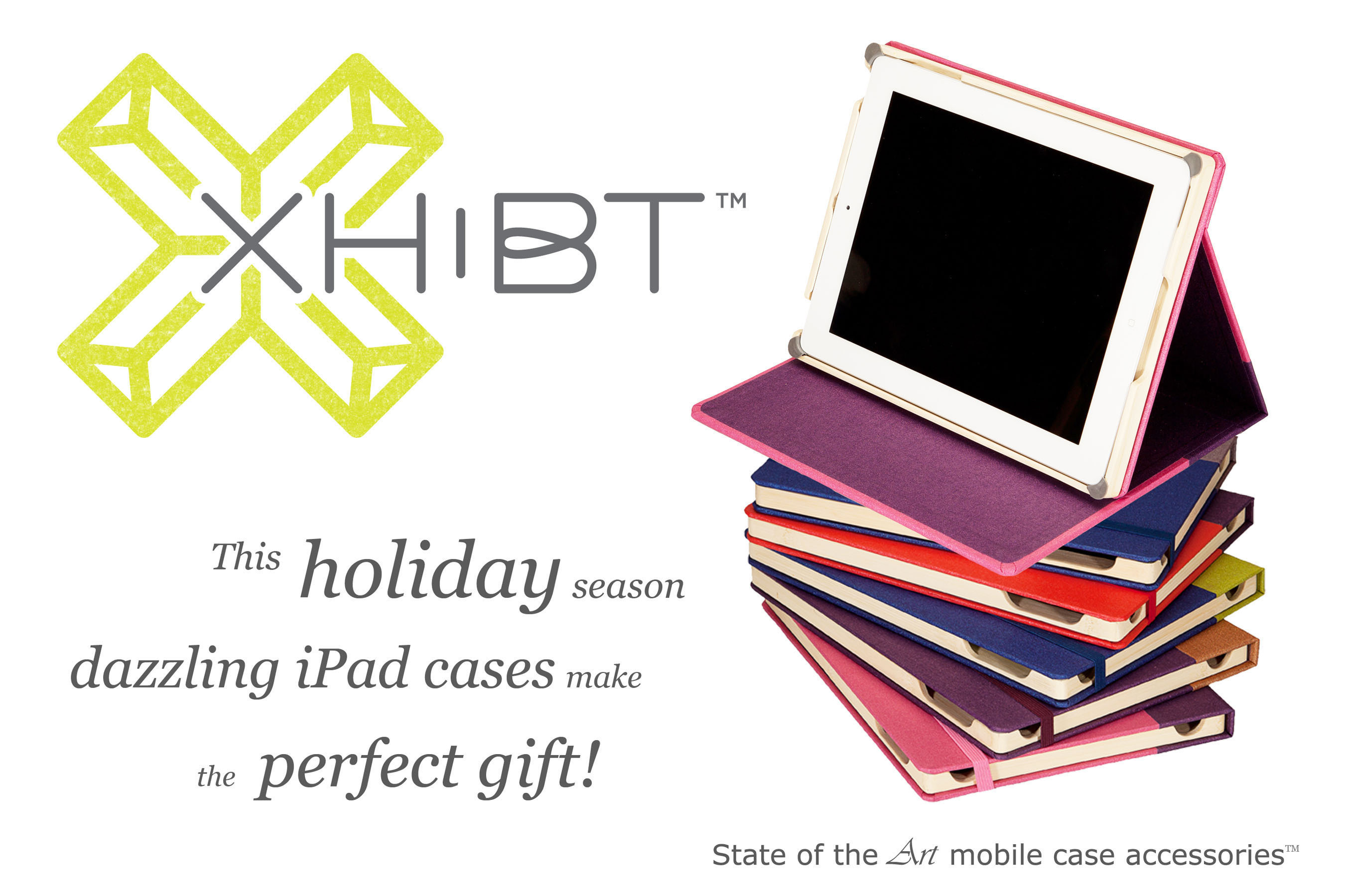 XHiBT dazzling handmade book bound iPad cases.  (PRNewsFoto/XHiBT)