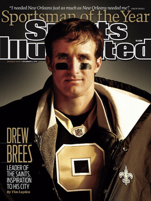 Drew Brees is the 2010 Sports Illustrated Sportsman of the Year. The Sportsman issue hits newsstands tomorrow.  (PRNewsFoto/Sports Illustrated)