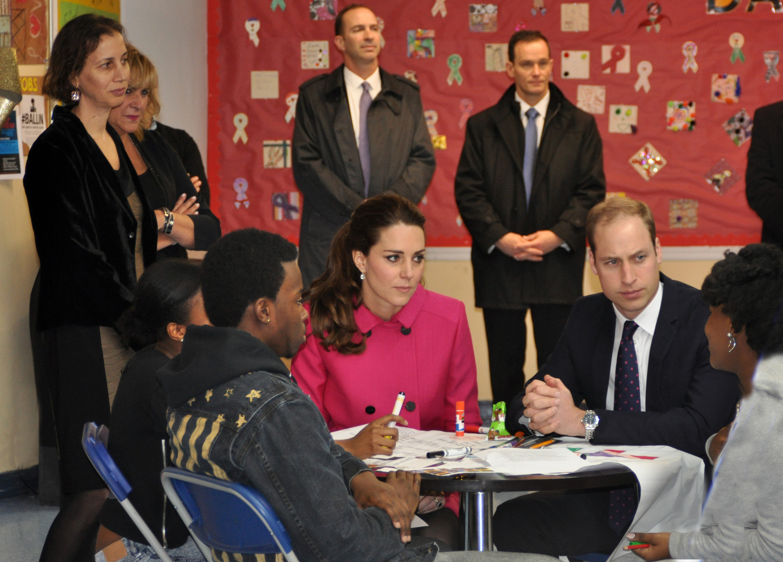 The Duke and Duchess spent time speaking with youth from The Door and The CityKids Foundation during their visit on Tuesday, December 9, 2014. Photo Credit: Jane Feldman
