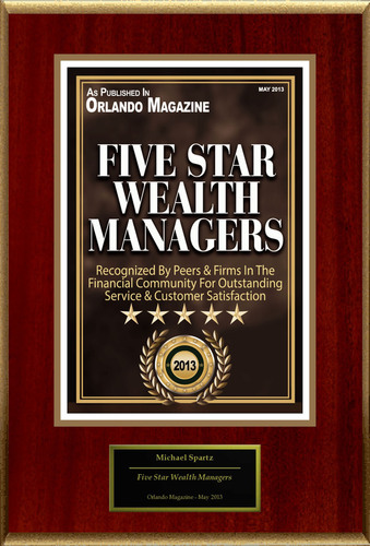 "Michael Anthony Spartz Selected For ""Five Star Wealth Managers.""  (PRNewsFoto/American Registry)"