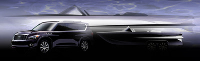 Infiniti QX56-Powered Luxury Boat Project. (PRNewsFoto/Infiniti)