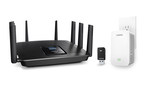 Linksys MAX-STREAM AC5400 Tri-Band Wi-Fi Router with MU-MIMO (EA9500) - Linksys MAX-STREAM AC1900+ MU-MIMO Wi-Fi Range Extender with Room-to-Room Wi-Fi (RE7000) - Linksys MAX-STREAM AC600 USB MU-MIMO Adapter (WUSB6100M)