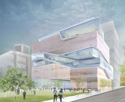 The Ronald O. Perelman Center for Business Innovation will allow Columbia Business School to continue pioneering breakthroughs in management education, such as moving beyond functional expertise or siloed learning and ensuring a more integrated curriculum for our students.  This rendering of Columbia's Manhattanville Campus is courtesy of Diller Scofidio Renfro architects.  (PRNewsFoto/Columbia Business School)