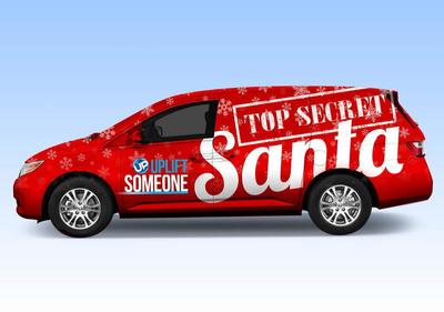 """UP's """"Top Secret Santa Patrol"""" van will be visiting five markets this holiday season to surprise families-in-need with Christmas gifts.  (PRNewsFoto/UP)"""