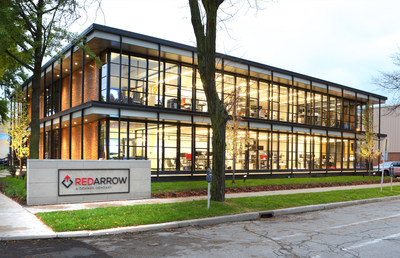 The Dohmen Company celebrates the grand opening of its new Red Arrow Labs headquarters in Milwaukee, Wis.