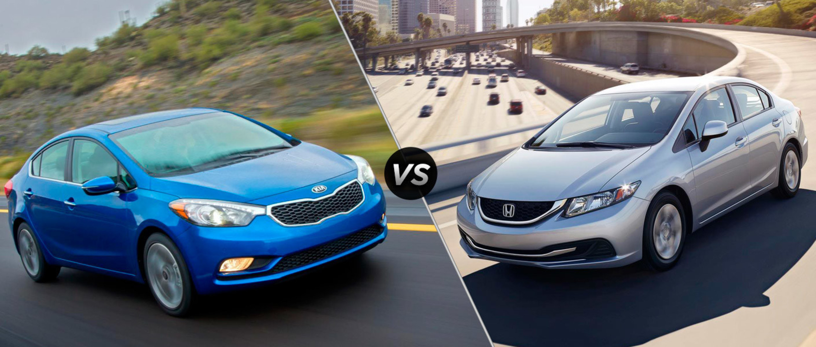 2015 Kia Forte vs 2015 Honda Civic comparison highlights key features of each vehicle