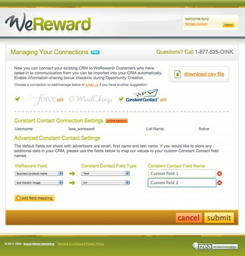 Constant Contact and WeReward Partner to Combine the Power of Email and Location-Based