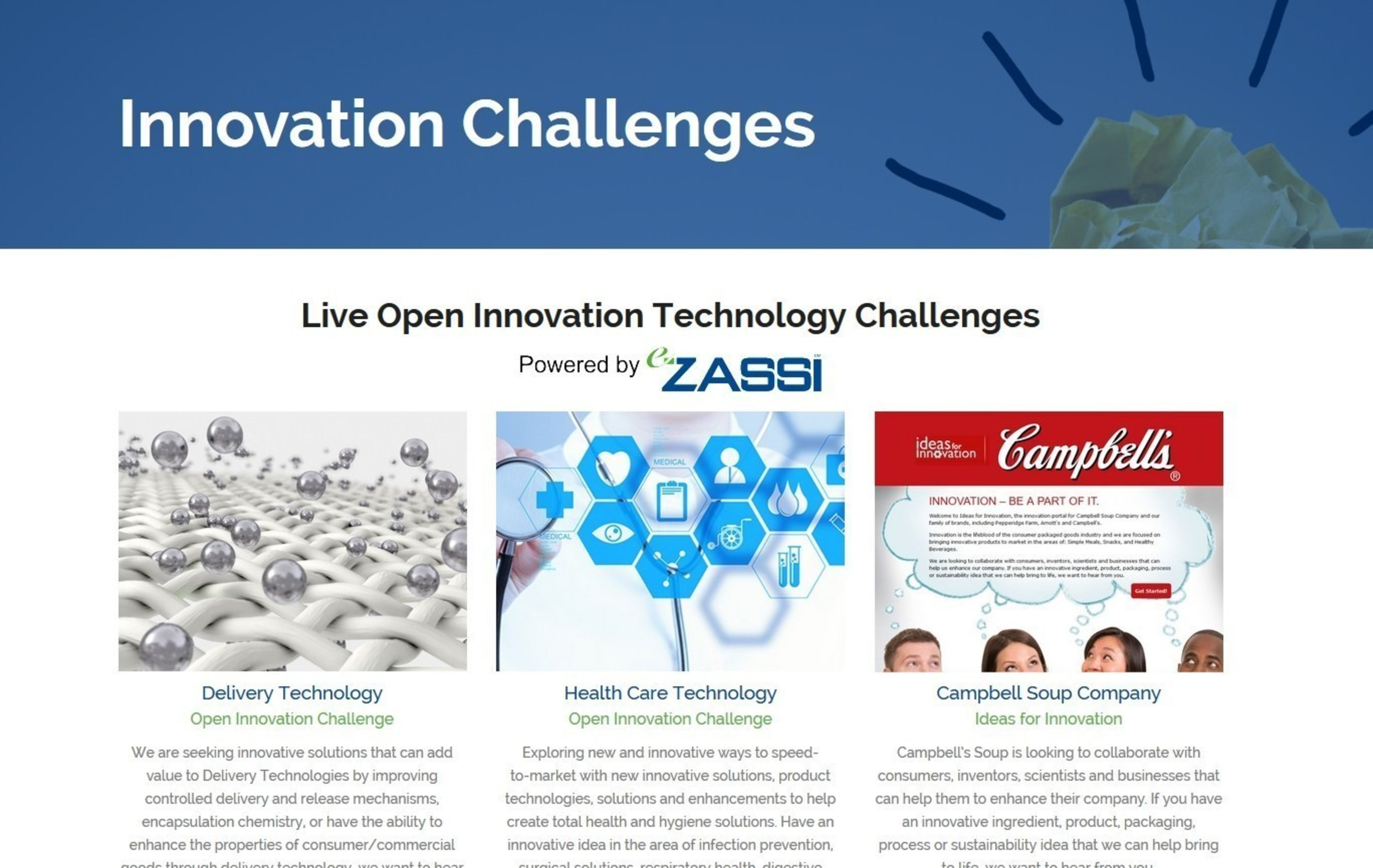 eZassi Announces Launch of an Open Innovation Challenge for