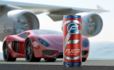 "Delivering ""Energy at the speed of life,"" Fuga Energy Drink launches in Rexam 12oz. SLEEK cans.  (PRNewsFoto/Rexam)"