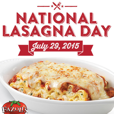 America's Largest Quick-Serve Italian Chain Offering FREE Lasagna on July 29