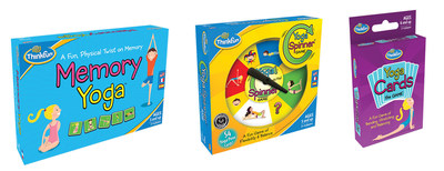 ThinkFun(R)'s Memory Yoga(TM), Yoga Spinner(R) and Yoga Cards help kids develop agile minds and bodies, encouraging them to move, stretch, think, learn, and have fun.