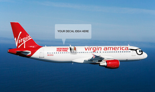 Nerdbird For Hire:  Virgin America & Gilt City Offer The Ultimate Geek-Chic Charter Flight This