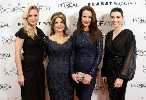 L'Oreal Paris spokespeople Aimee Mullins, Andie MacDowell and Julianna Margulies with L'Oreal Paris ...