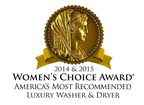 For the second year in a row, Speed Queen(R) has earned a Women's Choice Award seal for its luxury washer and dryer.