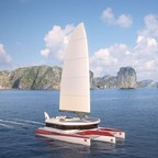 PI Super Yachts Launches New Dragonship 25 - a Luxury Trimaran with Innovative Charging Autosail Technology for Near Silent Eco-Friendly Running (PRNewsFoto/PI Super Yachts Ltd)