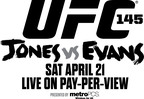 UFC 145: Jones vs Evans official fight logo