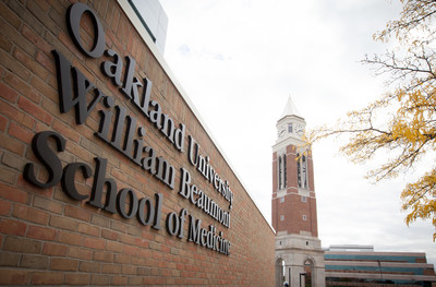 The future looks bright for the 47 students who crossed the stage during Oakland University William Beaumont (OUWB) School of Medicine's first-ever commencement ceremony.