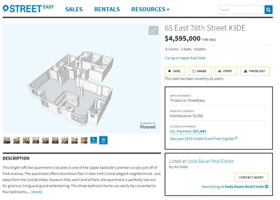 StreetEasy launches new 3-D floor plans for select for-sale listings in New York City.