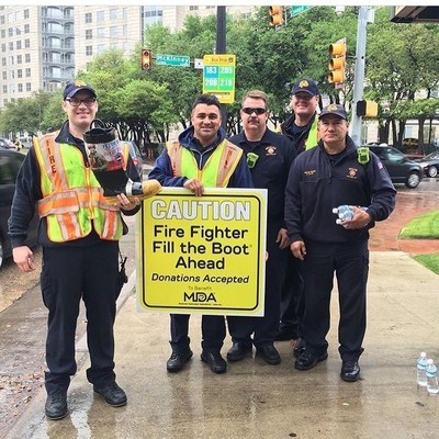 Members of Dallas Fire-Rescue helped raise $519,000 during the city's annual Fill the Boot Drive, MDA's largest to date, to support kids and adults with muscle-debilitating diseases
