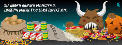 Track down the Hidden Hunger Monster on Vitamin Angels Facebook page!  (PRNewsFoto/Vitamin Angels)
