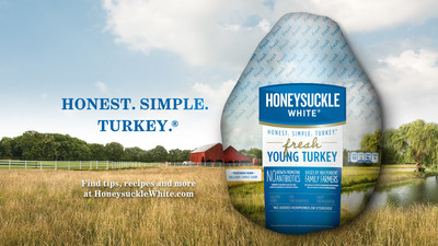 Honeysuckle White, Shady Brook Farms, debut holiday season ad campaign with Honest. Simple. Turkey. (R) theme