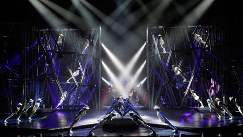 Sneak peek at Michael Jackson ONE by Cirque du Soleil at Mandalay Bay Las Vegas.  (PRNewsFoto/Cirque du Soleil)