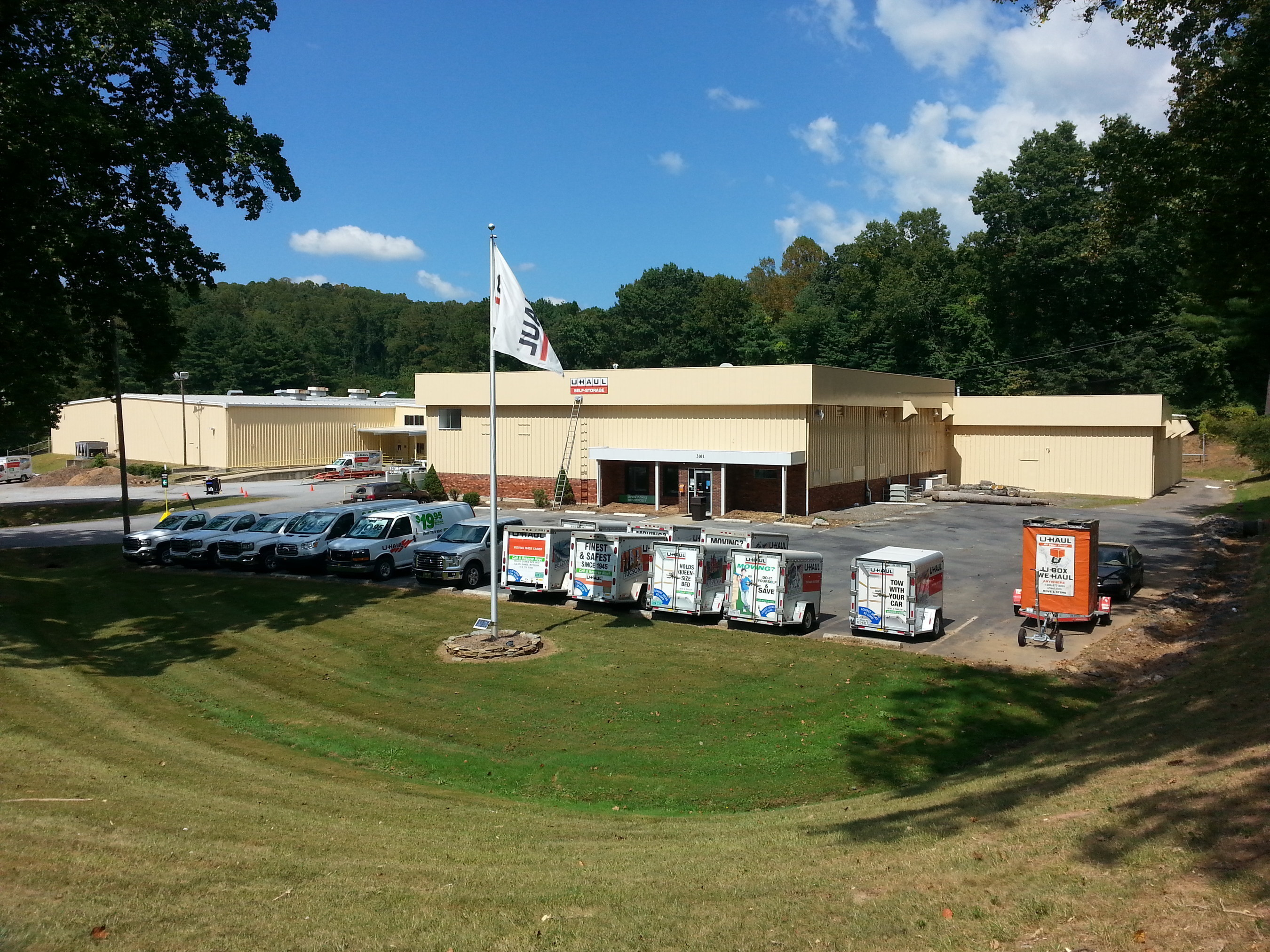U-Haul Moving & Storage of South Asheville at 3161 Sweeten Creek Road is now offering truck and trailer rentals, moving supplies, towing equipment and professional hitch installation, and U-Box portable moving and self-storage containers.