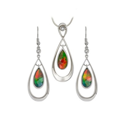 "Jewelers of America launches ""Amazing Ammolite Jewelry Sweepstakes"" at www.jewelers.org/ammolitesweeps. Three winners will receive an ammolite earring and pendant set from KORITE."