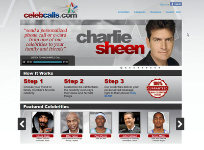 Celebcalls.com screenshot