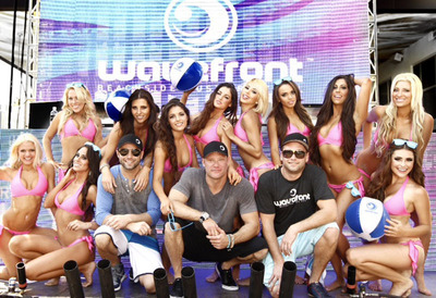 EnV Production's David Lynd, center, celebrates WAVEFRONT EDM Music Festival.  Named one of World's Top Festivals set for Chicago's Montrose Beach. July 5-7. WAVEFRONT will be live on AXS TV July 6.  (PRNewsFoto/EnV Productions)