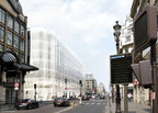 For the renovation of the iconic buildings on Paris's Rue de Rivoli and Quai du Louvre, Otis France will install 25 escalators and more than 40 elevators that will serve not only the La Samaritaine department store, but also the Hotel du Cheval Blanc, offices, housing, and a day-care center. Credit Cyrille Thomas for SANAA.