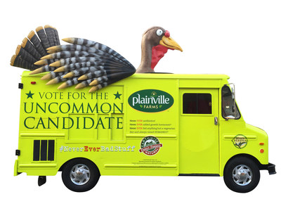 Plainville Farms Uncommon Candidate truck hits the streets handing out free turkey sandwiches!