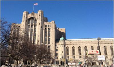 Detroit Masonic Temple at 500 Temple Avenue.  (PRNewsFoto/Wesley Berry)