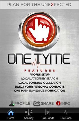 OneTyme App Homepage. (PRNewsFoto/Push Mobile Applications, Inc.) (PRNewsFoto/PUSH MOBILE APPLICATIONS, INC.)