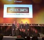 DIANA Award Presentation to Upsher-Smith. Left to right: John Gray (President & CEO of HDA), Brad Leonard (Senior Director of National Accounts at Upsher-Smith), Mike Muzetras (National Accounts Manager at Upsher-Smith), Ted Scherr, (HDA Chairman and President/CEO of Dakota Drug).
