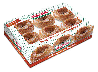 Just in time for fall, Krispy Kreme has infused its signature packaged treats with the traditional taste of the holidays. Pumpkin Spice Cake Doughnuts, Pumpkin Spice Cake Doughnut Holes and a NEW Glazed Pumpkin Pie are available for a limited time at a participating mass merchants, grocery and convenience store near you.  (PRNewsFoto/Krispy Kreme Doughnut Corporation)